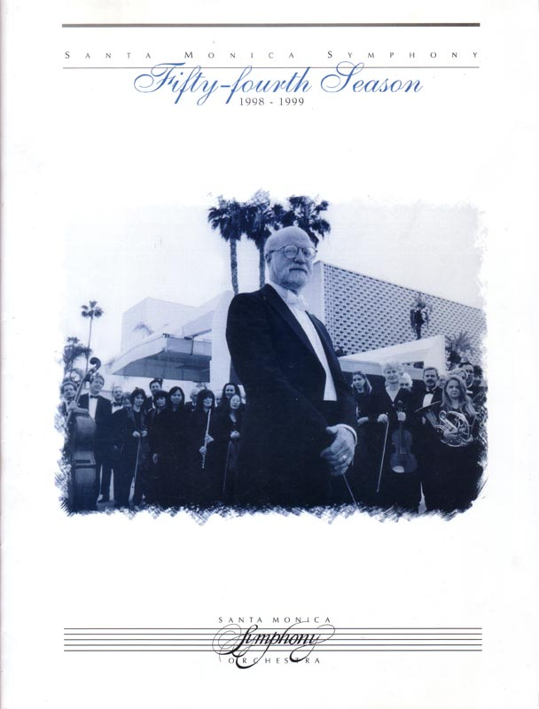 Santa Monica Symphony program cover