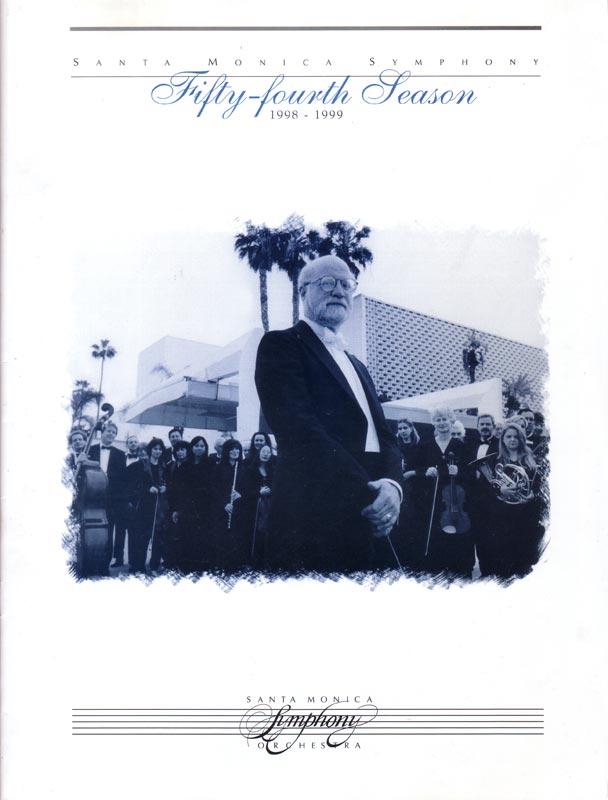 Santa Monica Symphony program cover