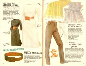 Some of Banana Republic's women's fashions in the '80s.
